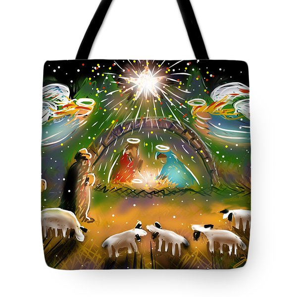 Nativity Tote Bag by Jean Pacheco Ravinski