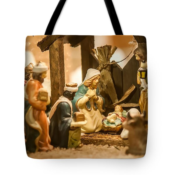 Tote Bag featuring the photograph Nativity Set by Alex Grichenko