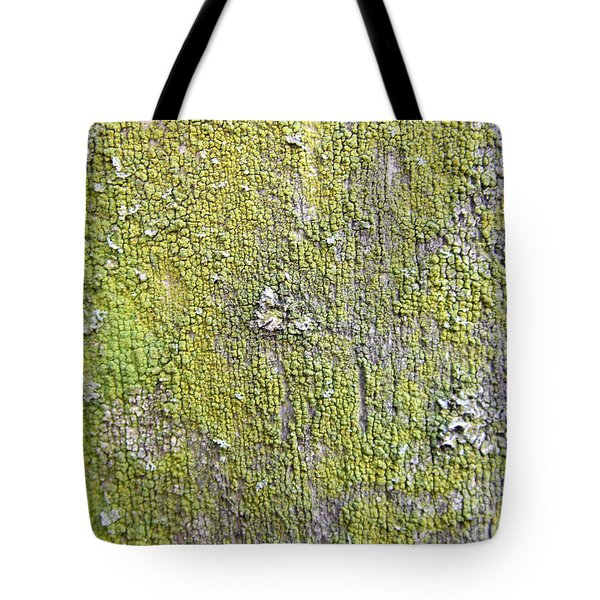 Natural Abstract 1 Old Fence With Moss Tote Bag