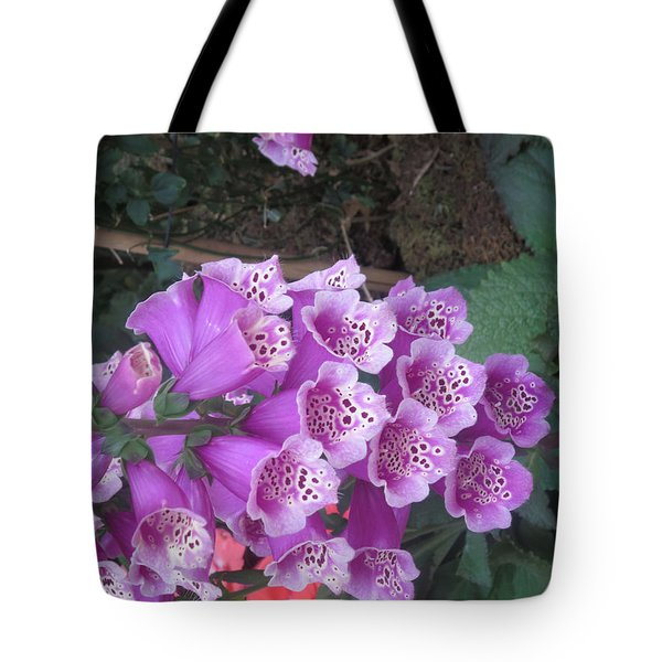 Tote Bag featuring the photograph Natural Bouquet Bunch Of Spiritul Purple Flowers by Navin Joshi
