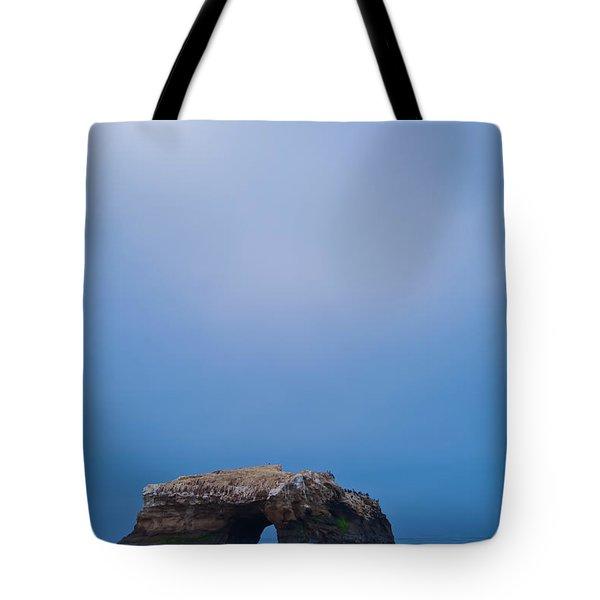 Natural Bridge And Its Reflection Tote Bag