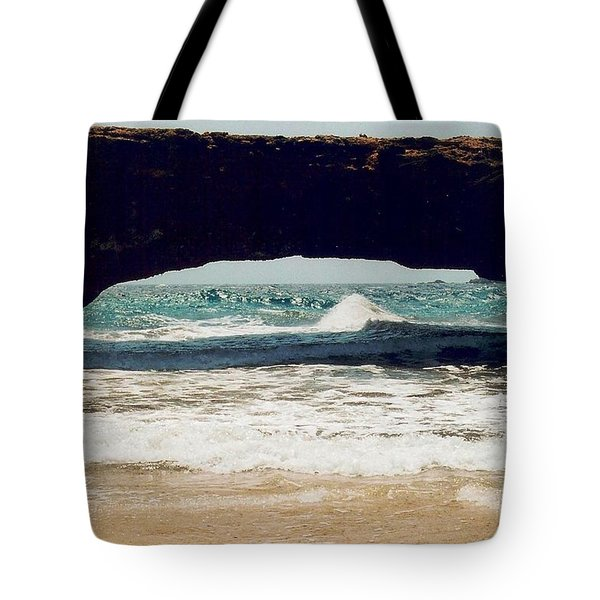 Tote Bag featuring the photograph Natural Bridge by Judy Palkimas