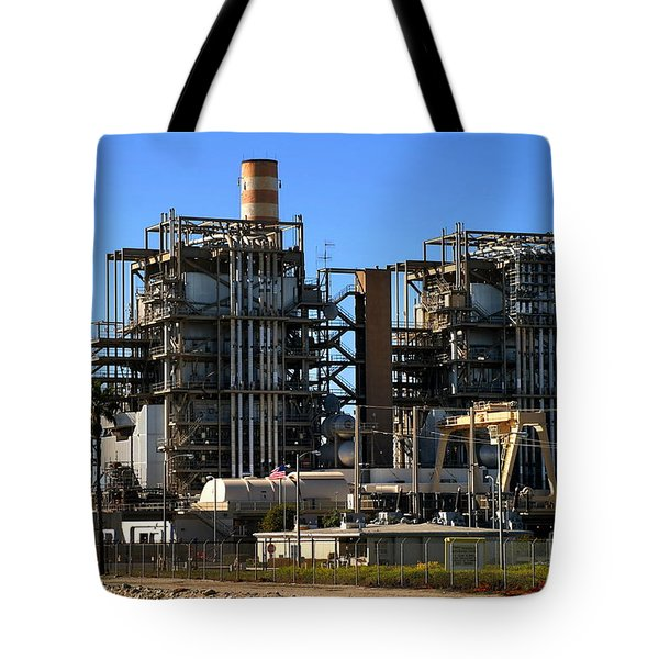 Natural Gas Power Plant Tote Bag