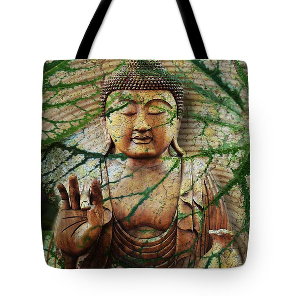 Tote Bag featuring the mixed media Natural Nirvana by Christopher Beikmann