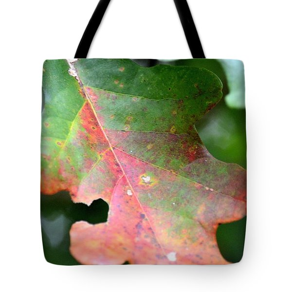 Natural Oak Leaf Abstract Tote Bag