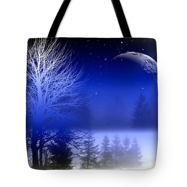 Nature In Blue  Tote Bag by Mark Ashkenazi