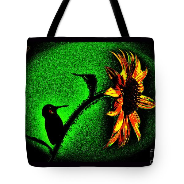Nature Went On Although The Moon Turned Green Tote Bag