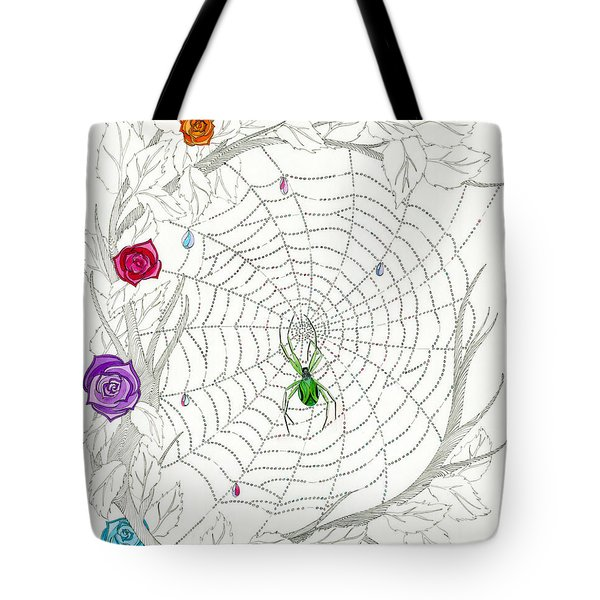 Tote Bag featuring the drawing Nature's Art by Dianne Levy