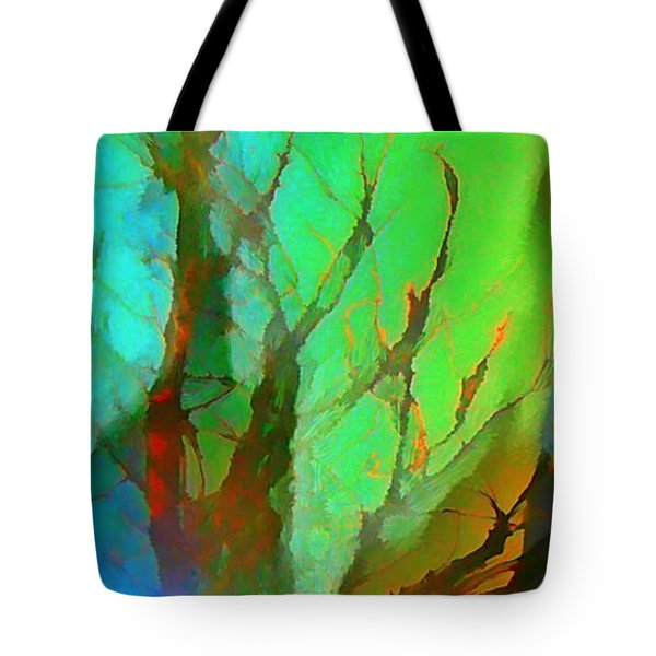 Natures Beauty Abstract Tote Bag by John Malone