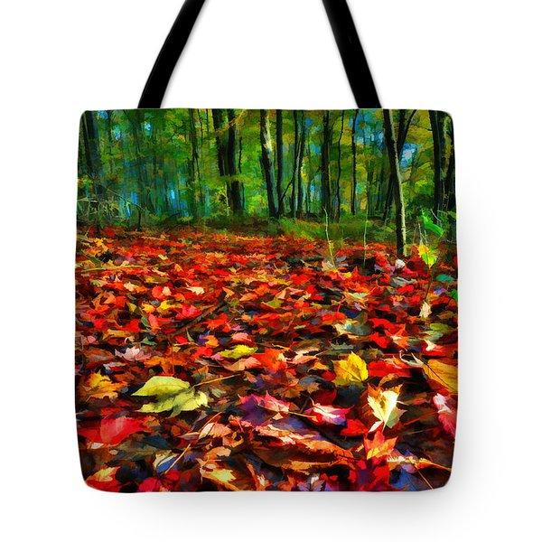Natures Carpet In The Fall Tote Bag by Dan Friend