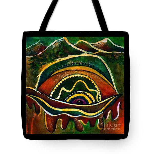 Nature's Child Spirit Eye Tote Bag by Deborha Kerr