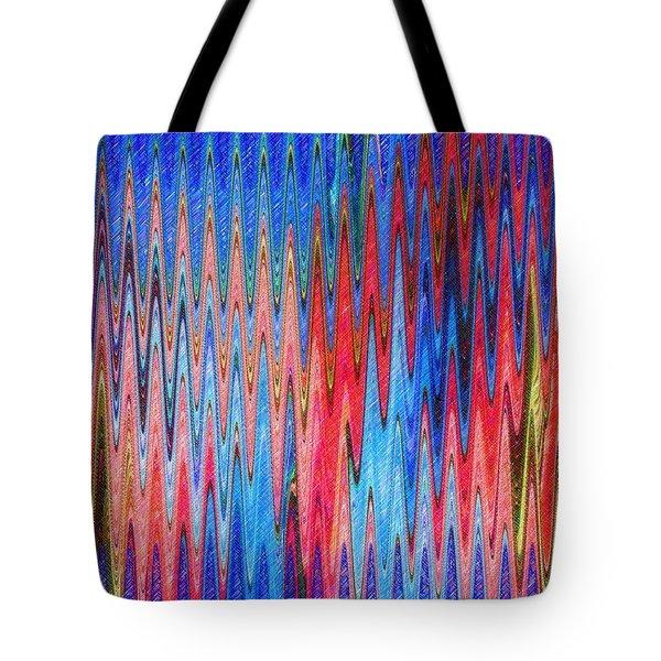 Natures Electrocardiogram Tote Bag