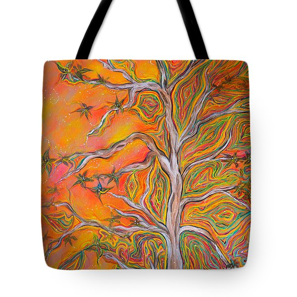 Nature's Energy Tote Bag by Deborha Kerr