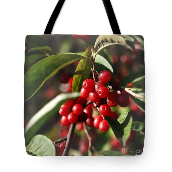 Natures Gift Of Red Berries Tote Bag