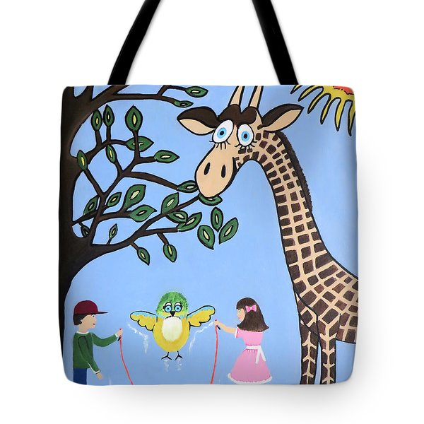 Tote Bag featuring the painting Nature's Playground by Kathleen Sartoris