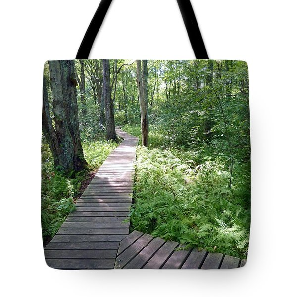 Tote Bag featuring the photograph Nature's Walkway by Mary Lou Chmura