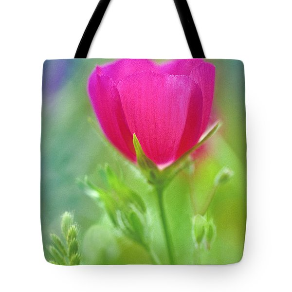 Tote Bag featuring the photograph Natures Winecup South Texas by Dave Welling