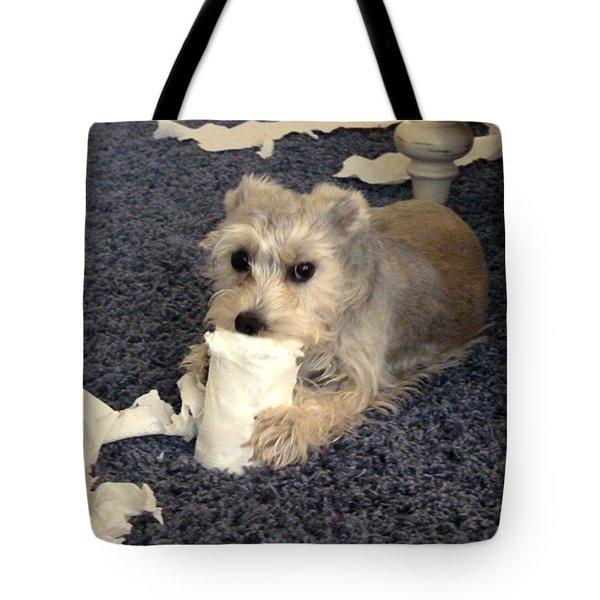 Naughty Schnauzer Tote Bag