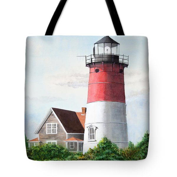 Nauset Beach Memories Watercolor Painting Tote Bag