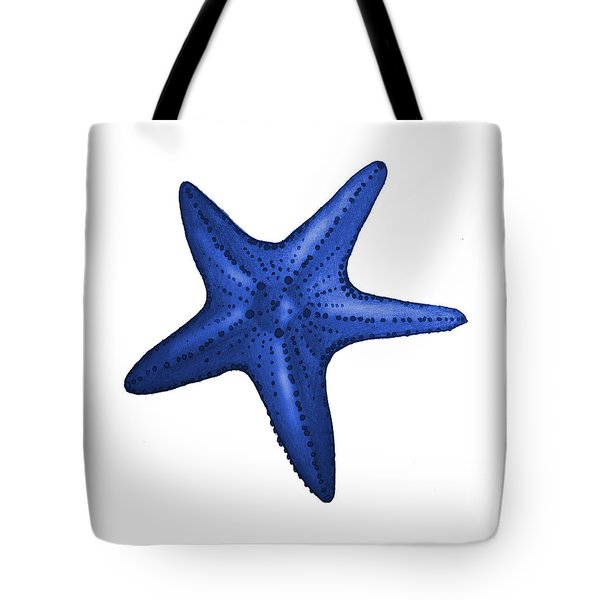 Nautical Blue Starfish Tote Bag