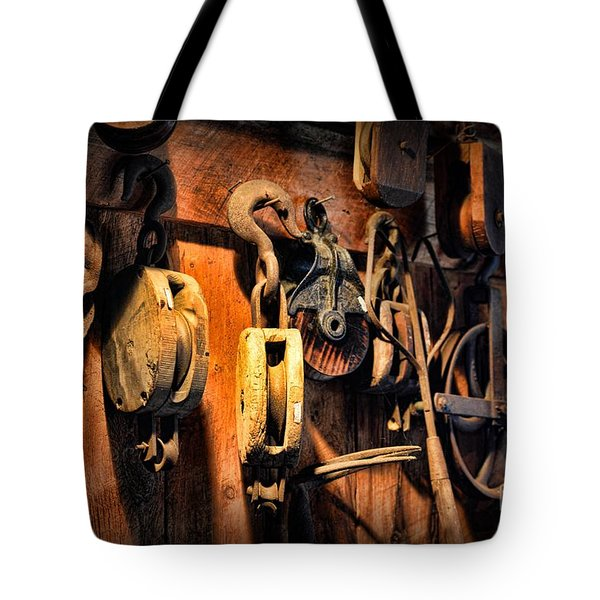 Nautical - Boat - Block And Tackle  Tote Bag by Paul Ward