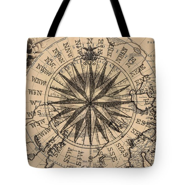 Nautical II Tote Bag by James Christopher Hill