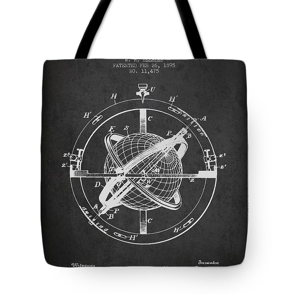 Nautical Observation Apparatus Patent From 1895 - Dark Tote Bag