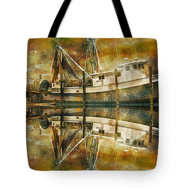 Nautical Timepiece Tote Bag by Betsy Knapp