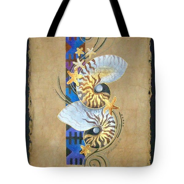 Nautilus And Blue Masi Tote Bag
