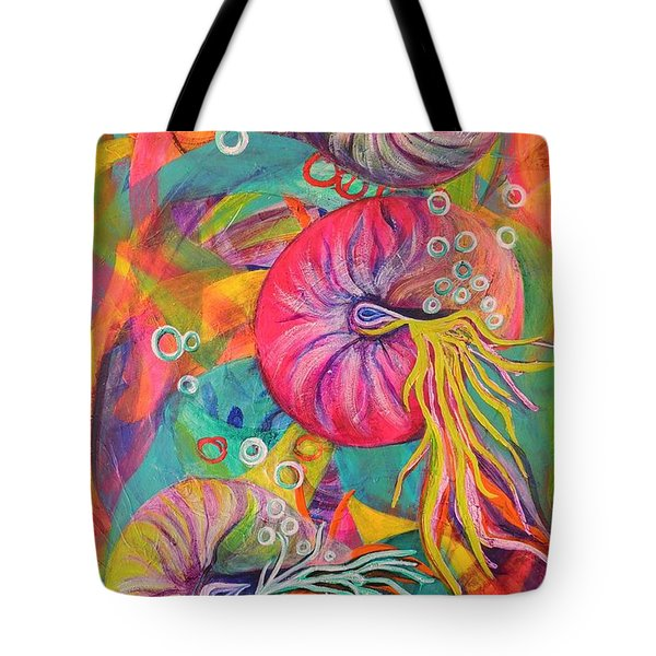 Tote Bag featuring the painting Nautilus by Lyn Olsen