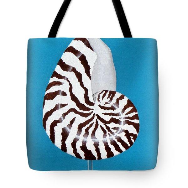 Nautilus Sea Shell Tote Bag by Karyn Robinson