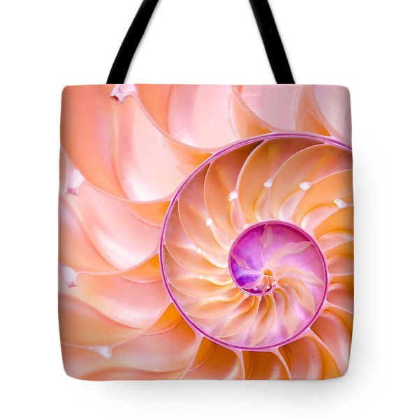 Nautilus Shell Detail Tote Bag
