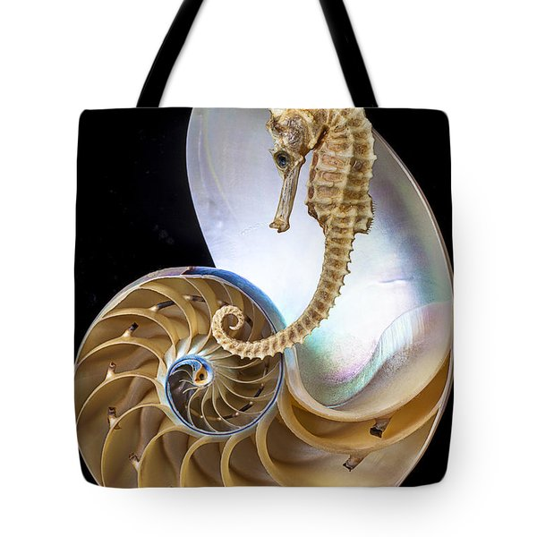 Nautilus With Seahorse Tote Bag by Garry Gay