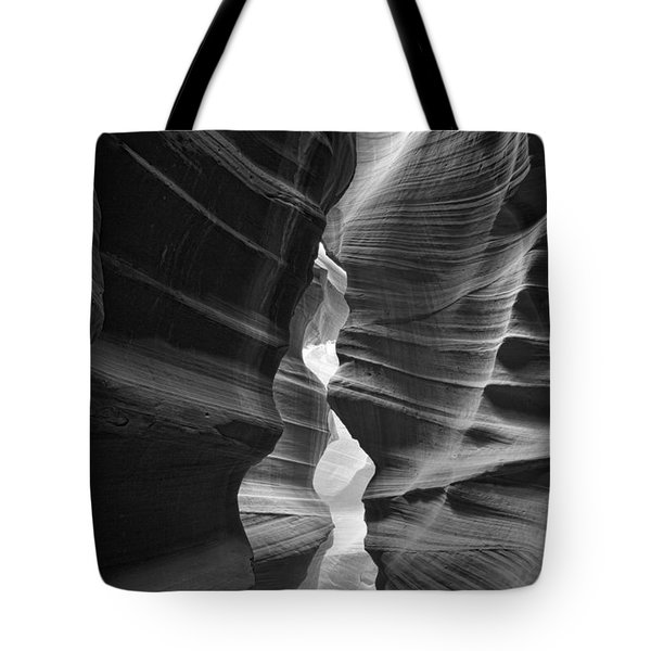 Antelope Canyon Black And White Tote Bag by Jonathan Davison