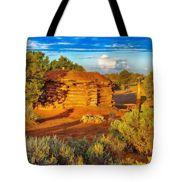 Navajo Hogan Canyon Dechelly Nps Tote Bag by Bob and Nadine Johnston