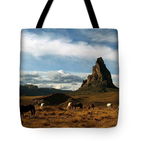 Navajo Horses At El Capitan Tote Bag