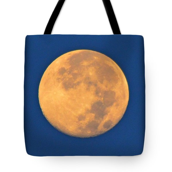 Tote Bag featuring the photograph Navarre Beach Full Moon At Sunrise by Jeff at JSJ Photography