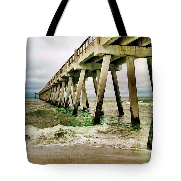 Navarre Pier Tote Bag by Janice Spivey