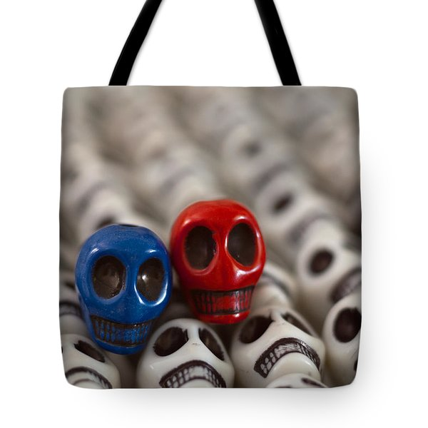 Navy Blue And Red Tote Bag by Mike Herdering