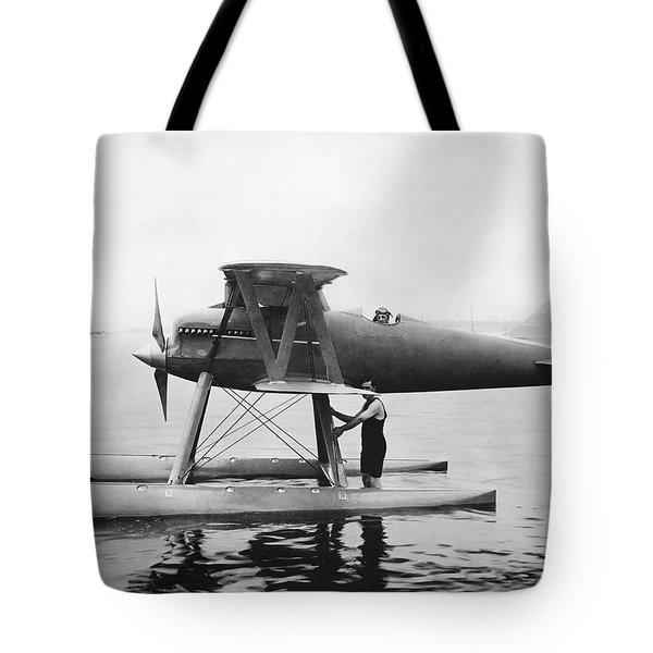 Navy Curtis Seaplane Racer Tote Bag