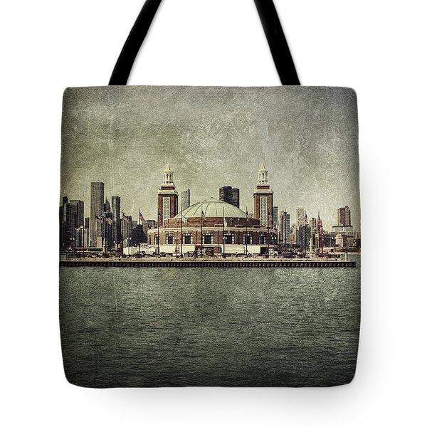 Navy Pier Tote Bag by Andrew Paranavitana