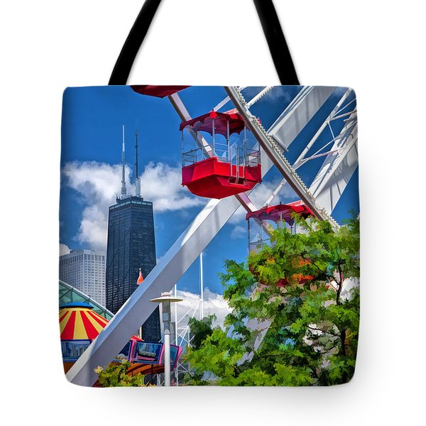 Navy Pier Ferris Wheel Tote Bag by Christopher Arndt