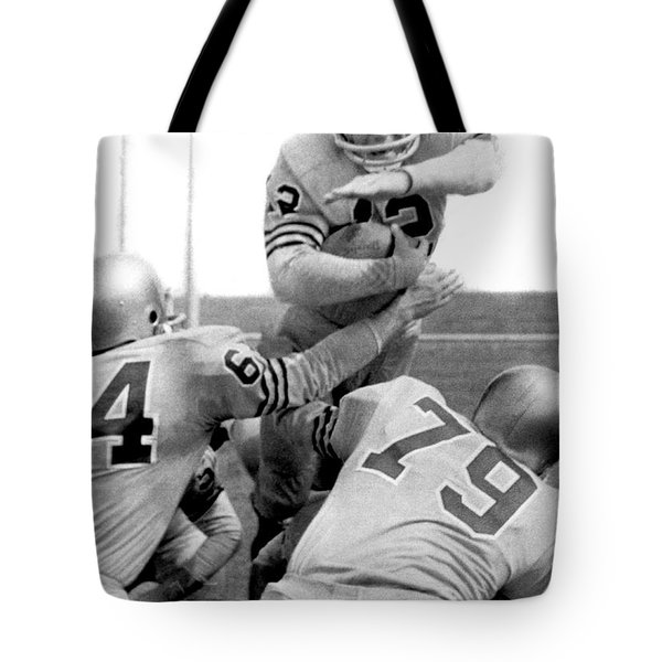 Navy Quarterback Staubach Tote Bag by Underwood Archives