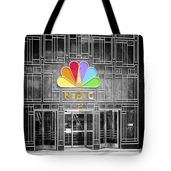 Nbc Facade Selective Coloring Tote Bag by Thomas Woolworth