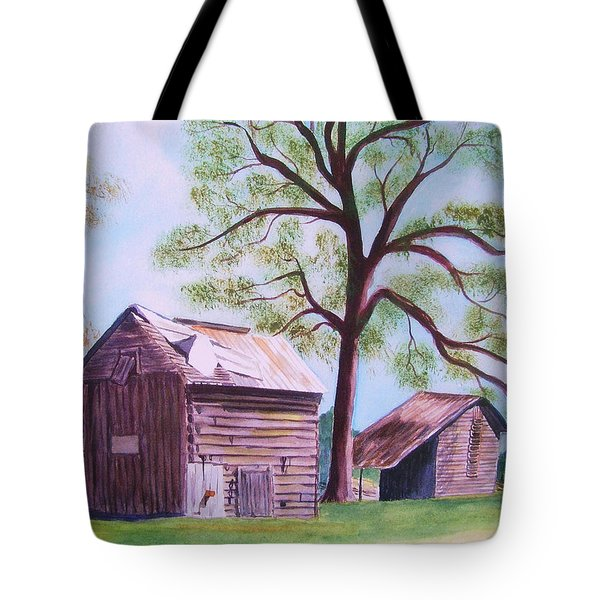 Nc Tobacco Barns Tote Bag