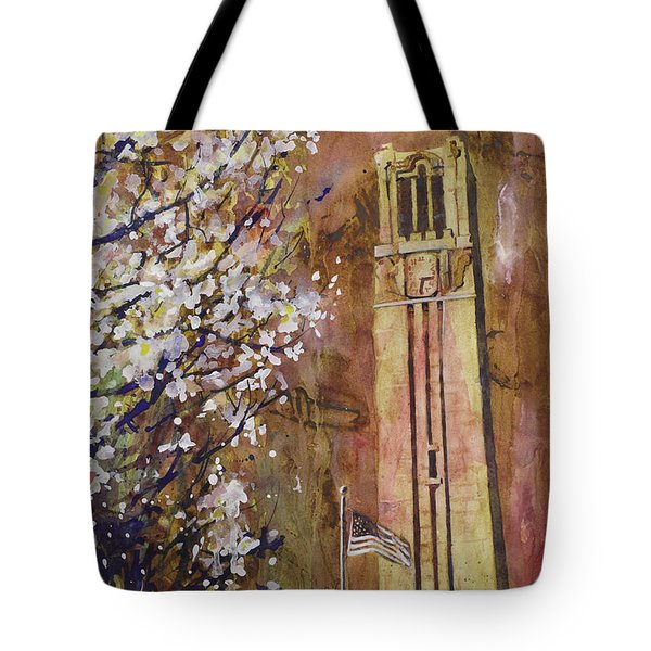 Ncsu Bell Tower Tote Bag by Ryan Fox