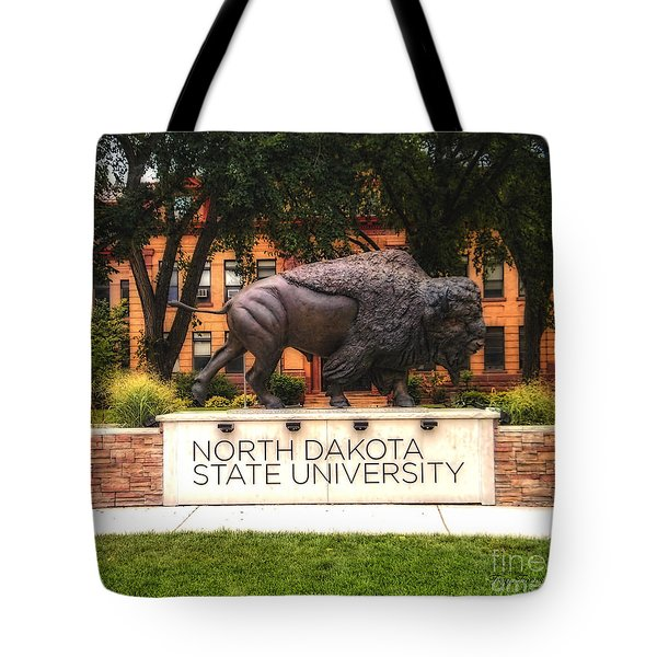 Tote Bag featuring the photograph Ndsu Bison by Trey Foerster