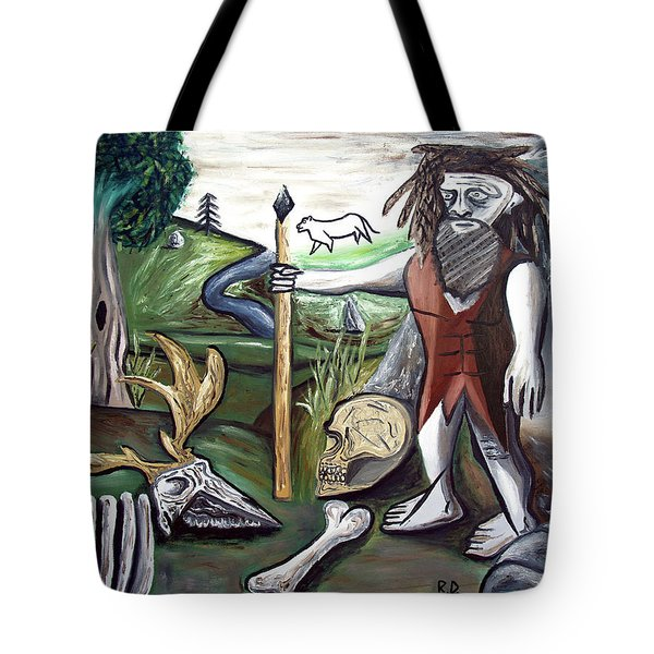 Tote Bag featuring the painting Neander Valley by Ryan Demaree