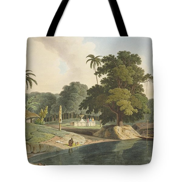 Near Bandell On The River Hoogly, Plate Tote Bag by Thomas & William Daniell