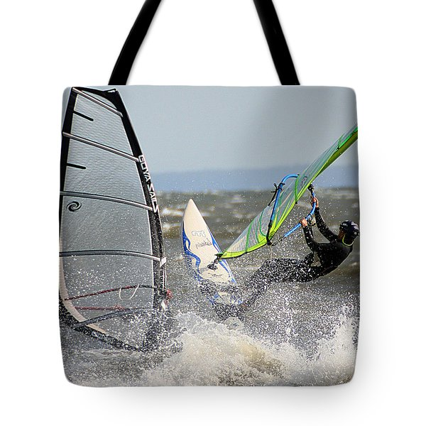 Tote Bag featuring the photograph Near Miss by William Selander